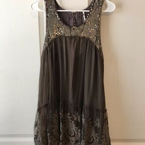 Beautiful sequin free people dress!